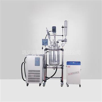 YSF standard type frequency conversion speed regulating double layer glass reaction kettle